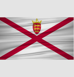 Jersey flag flag of jersey blowig in the wind vector