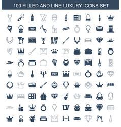 luxury icons vector image