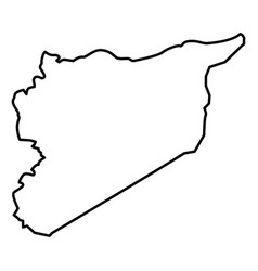 map of syria icon black color flat style simple vector image