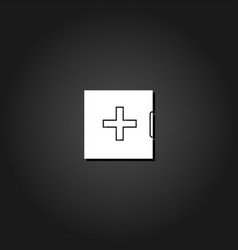 medicine chest icon flat vector image