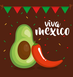 mexican culture vegetables icon vector image