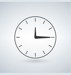 Minimalistic clock or time icon isolated on vector