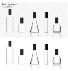 mock up realistic glass transparent packaging vector image