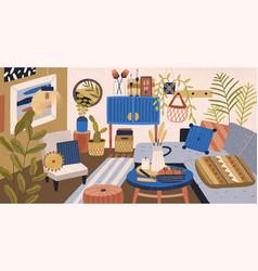 modern domestic interior living room vector image