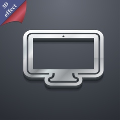 Monitor icon symbol 3D style Trendy modern design vector