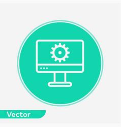 monitor settings icon sign symbol vector image