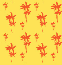 palm tree seamless pattern tropical ornament vector image