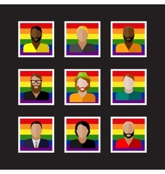 People icons with LGBT community members vector