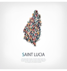 People map country Saint Lucia vector