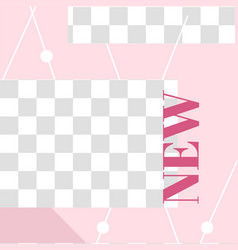 pink floral post cute new social media post vector image