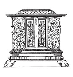 renaissance chest vintage vector image