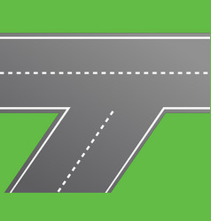 Road intersection road vector