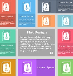 Rock scissors paper poster icon sign set of vector