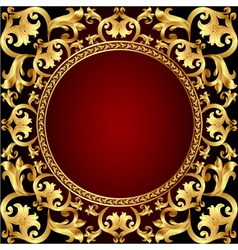Romantic background frame with gold vector