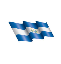 salvador flag on a white vector image