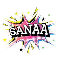 sanaa comic text in pop art style vector image