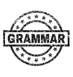 Scratched textured grammar stamp seal vector