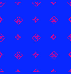 seamless pattern on the blue background vector image