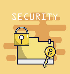 security system technology vector image