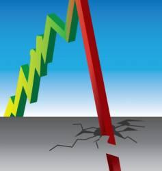 stock crash vector image