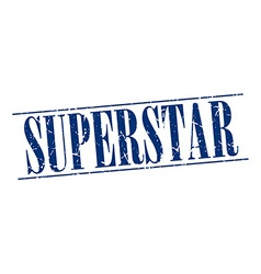 Superstar blue grunge vintage stamp isolated on vector