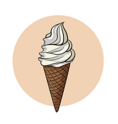 tasty refreshing ice cream vector image