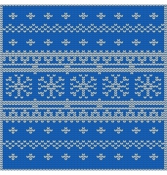 The abstract blue knitted vector image