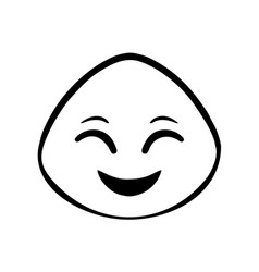 thin line happy face icon vector image