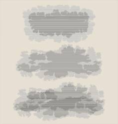 vintage clouds vector image vector image