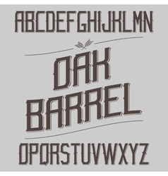 Vintage font with sharp elements alcohol drink vector