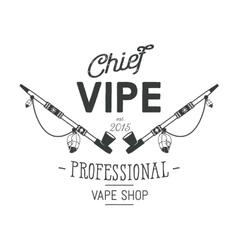 Vintage style Vape Shop emblem or logo vector