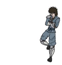 wait ninja vector image