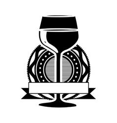 Wine glass icon image vector
