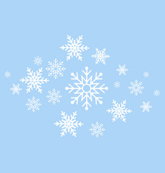 winter background white snowflakes on blue vector image