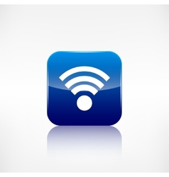 Wireless web icon Application button vector image