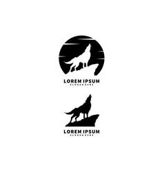 Wolf logo template animal vector