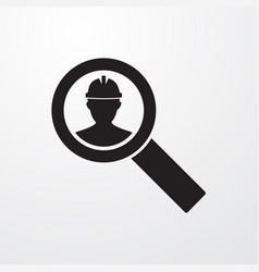 Worker search icon for web and mobile vector
