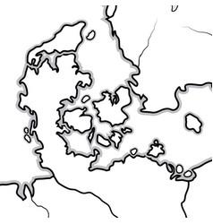 world map denmark jutland zealand scandinavia vector image