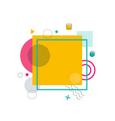 yellow square with frame on vector image