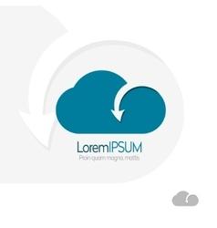 Cloud with arrow template design Data transfer vector image