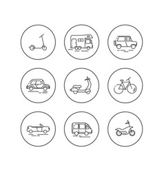 flat linear icons of personal urban vector image vector image