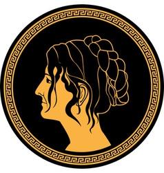 greek woman vector image vector image