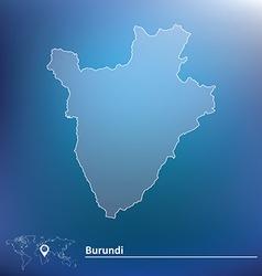 Map of Burundi vector image vector image