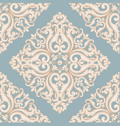 seamless damask pattern vector image