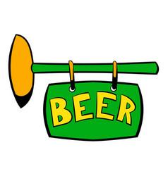 street signboard of pub icon icon cartoon vector image