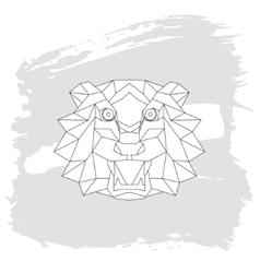 Tiger head triangular icon geometric trendy vector image