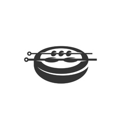 Barbecue icon isolated on a white background vector image vector image