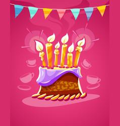 chocolate birthday cake vector image