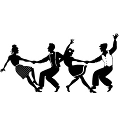 Lindy hop party vector image