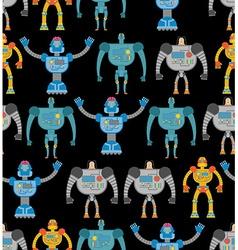 Robots seamless pattern Cosmic cyborgs seamless vector image vector image